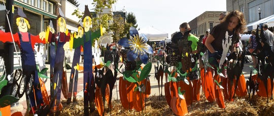 Garden art by Creative Metal Art, Mt. Calvary, which was among the vendors at last year's Harvest Fest in Sturgeon Bay.