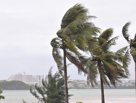 A fresh to strong tradewind surge is the cause of expected gusty winds on Guam, according to the National Weather Service.