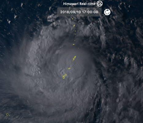 Typhoon satellite