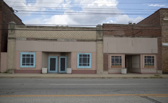 Two side-by-side addresses that are slated to become a new Bryan Fonseca-led Fonseca Theatre Company on Indy's west side, Thursday, Sept. 6, 2018. Construction on the theater building is expected to start in the fall and be complete in time for an early 2019 opening.