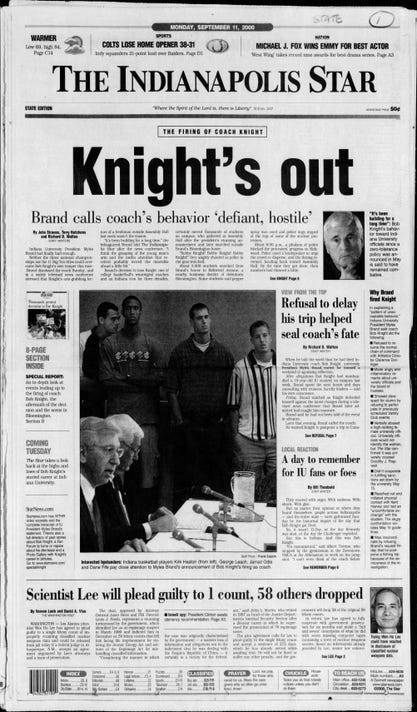 The Indianapolis Star Mon Sep 11 2000