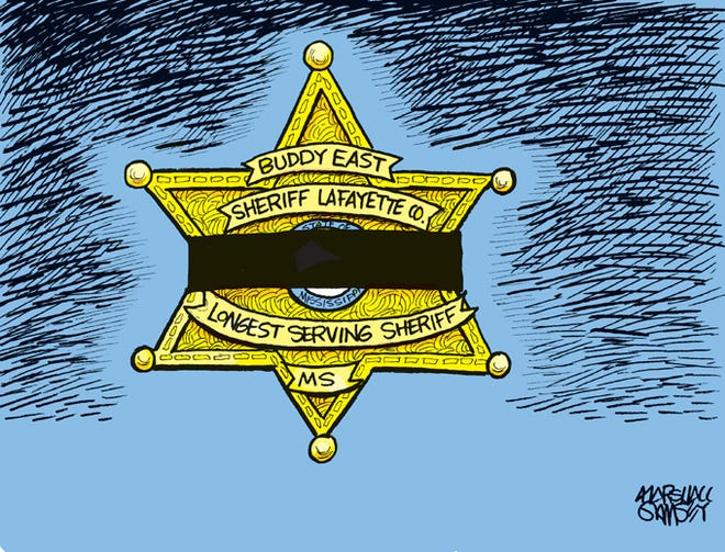 A moment of silence for the passing of Mississippi's longest serving Sheriff.