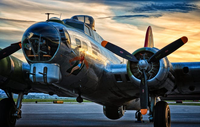 "The ""Madras Maiden,"" a restored B-17 bomber, will fly over Knoxville on Sept. 22."