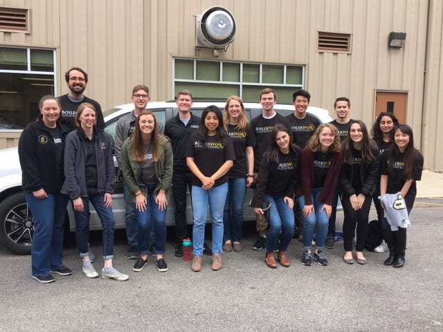 Students and faculty from the Purdue College of Pharmacy hosted an event with the Lafayette Transitional Housing Center on Apr. 21.