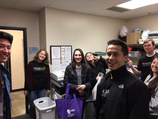 Students and faculty from the Purdue College of Pharmacy hosted an event with the Lafayette Transitional Housing Center on April 21.