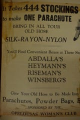 Stocking drive announcement in the Clarion News released in 1942