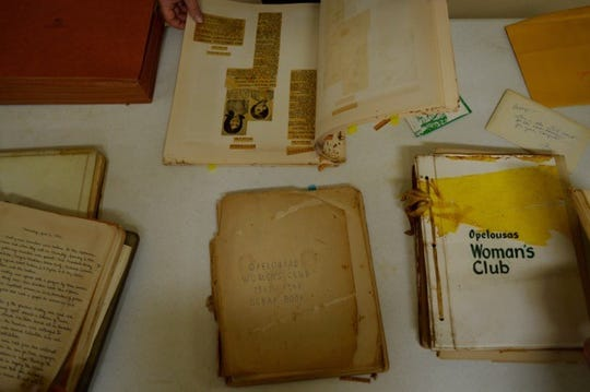 Albums collecting pictures, news clippings, and announcements made by the Opelousas Woman's Club throughout the years.