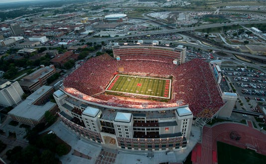 Nebraskas Memorial Stadium Overhead