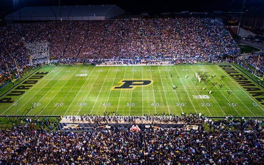 Purdue's Ross-Ade Stadium opened in 1924 and currently seats 57,263.