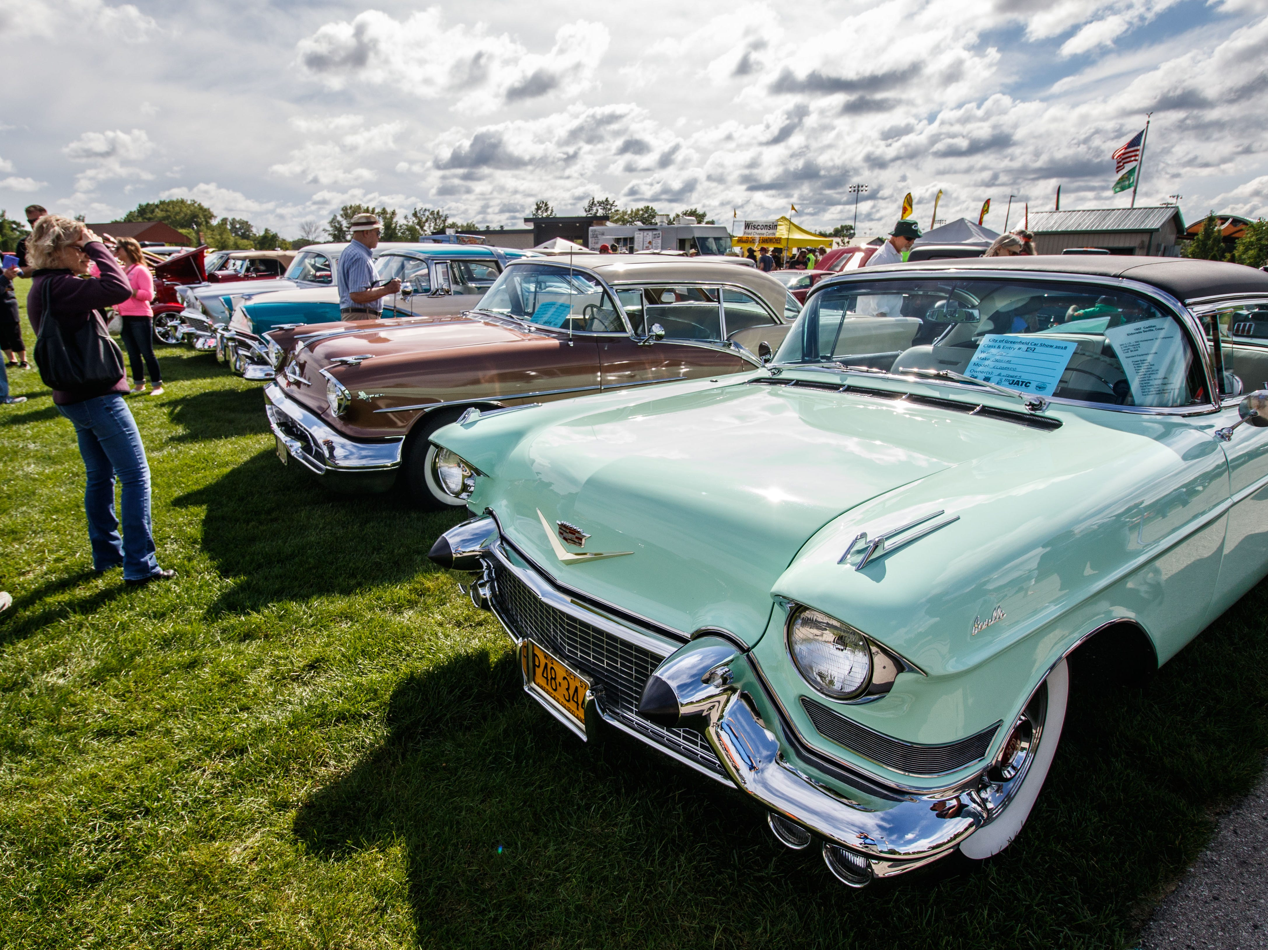 Car enthusiasts are treated to a variety of modern, vintage, classic and custom vehicles during the City of Greenfield's 2nd annual Car Show in Konkel Park on Saturday, Sept. 8, 2018.