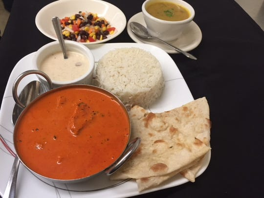The Chicken Tikka Masala is among the most popular dishes at Mantra Indian Bistro.
