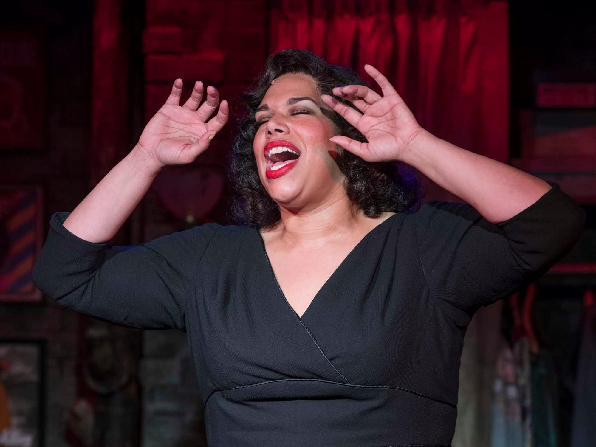 "Bethany Thomas sings the music of five great divas in ""Songs for Nobodies"" at the Stackner Cabaret."