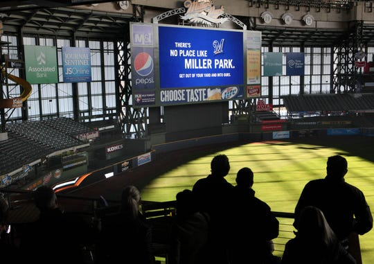 Miller Park's updated high definition scoreboard was unveiled in 2011. At the time, it was the fourth largest in the Major Leagues (5900 square feet).