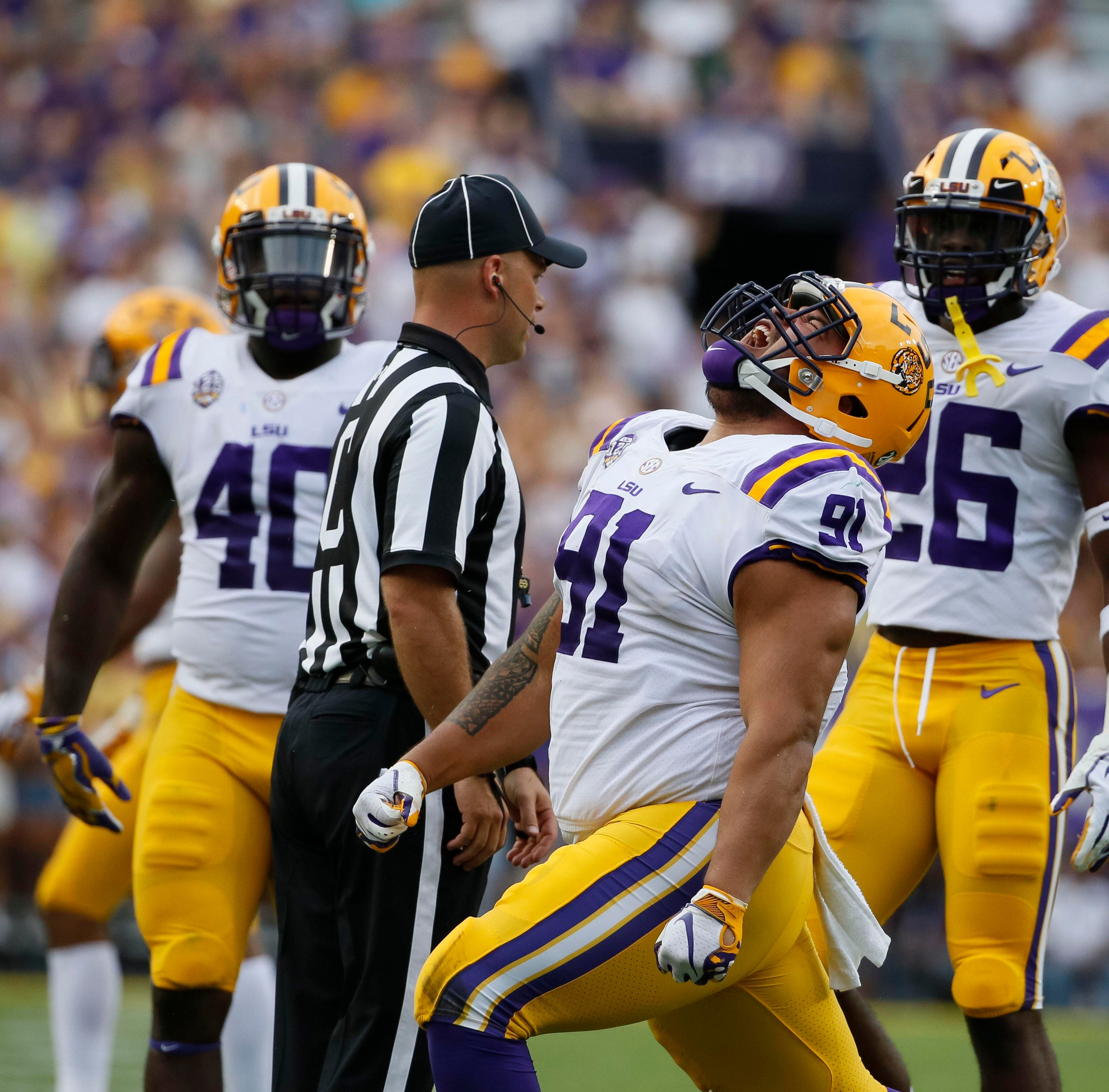 'Just stuff him,' was the game plan, said LSU nose tackle Breiden Fehoko on key 4th down
