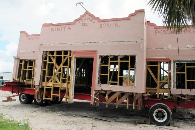 The former Dixie Moon Cafe on Sept. 8, 2018, on the corner of Dean Street and Old 41 Road in Bonita Springs. The building is moving to a plot of land just south of the Liles Hotel.