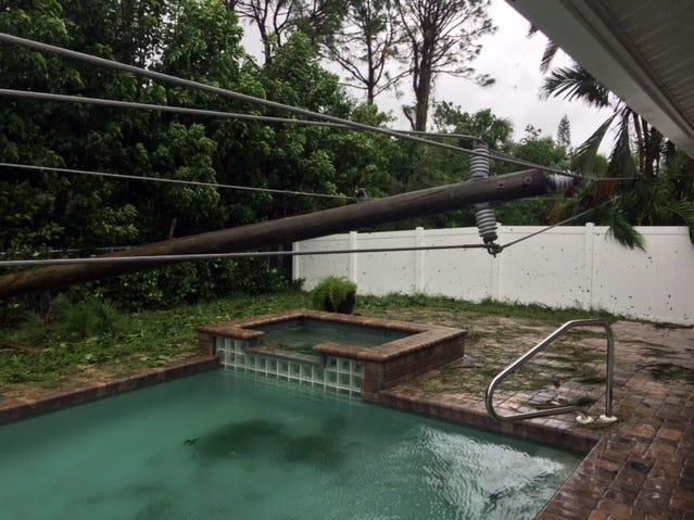 Mindy Johnson shared this photo after Hurricane Irma.