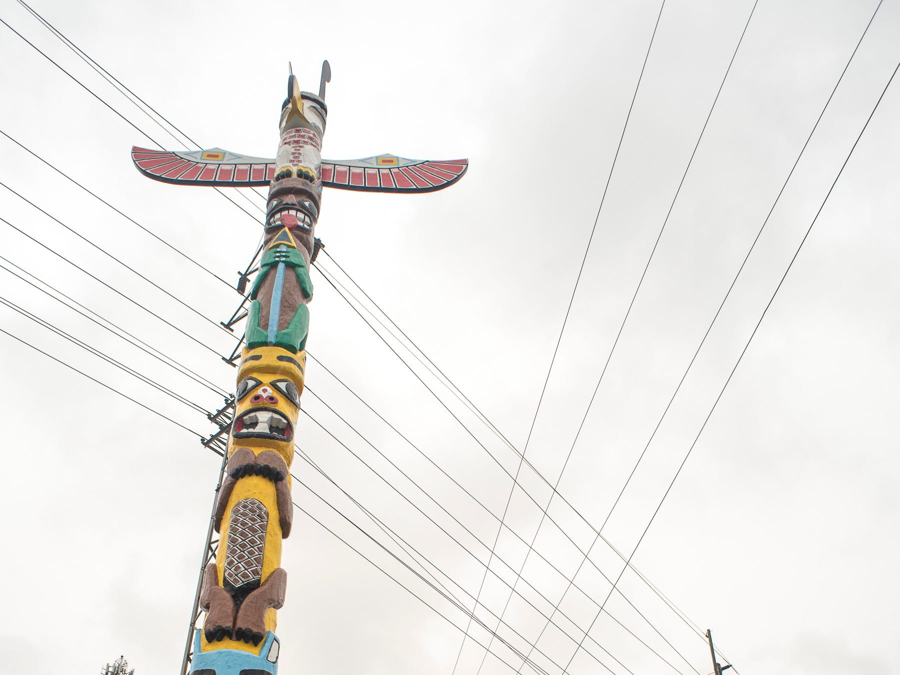 A ceremony was held Saturday to unveil the newly restored totem pole placed near Truck One in Newark, Ohio. The totem pole, restored by Dave Fryman, was originally erected after the great flood of 1959.