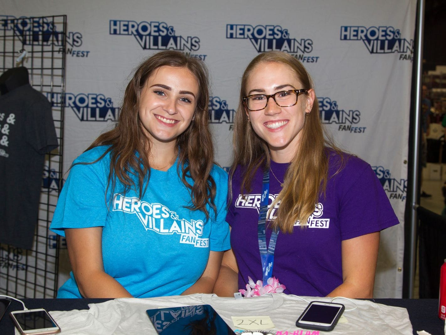 Rebecca and Lindsey. The 2018 Heroes and Villains Fan Fest took place at the New Jersey Convention & Expo Center. 09/09/2018