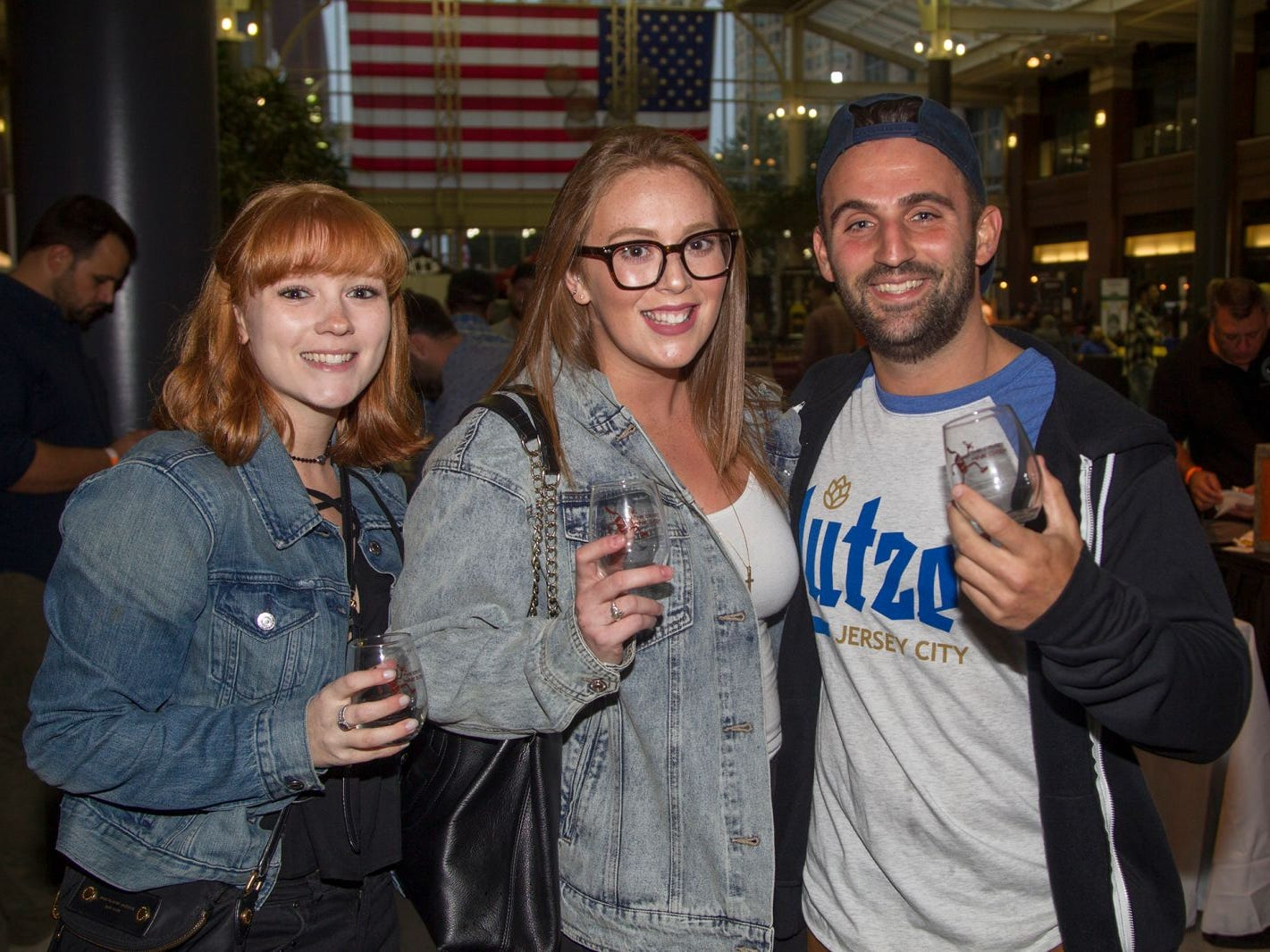 Susuan, Caitlyn, Dave. Jersey City Craft Distillery Fest at the Harborside Atrium featured more than 100 styles of spirits. Guests had the chance to taste craft-distilled spirits from moonshine, rum, cognac, whiskey, vodka, gin, tequila and more. 09/08/2018