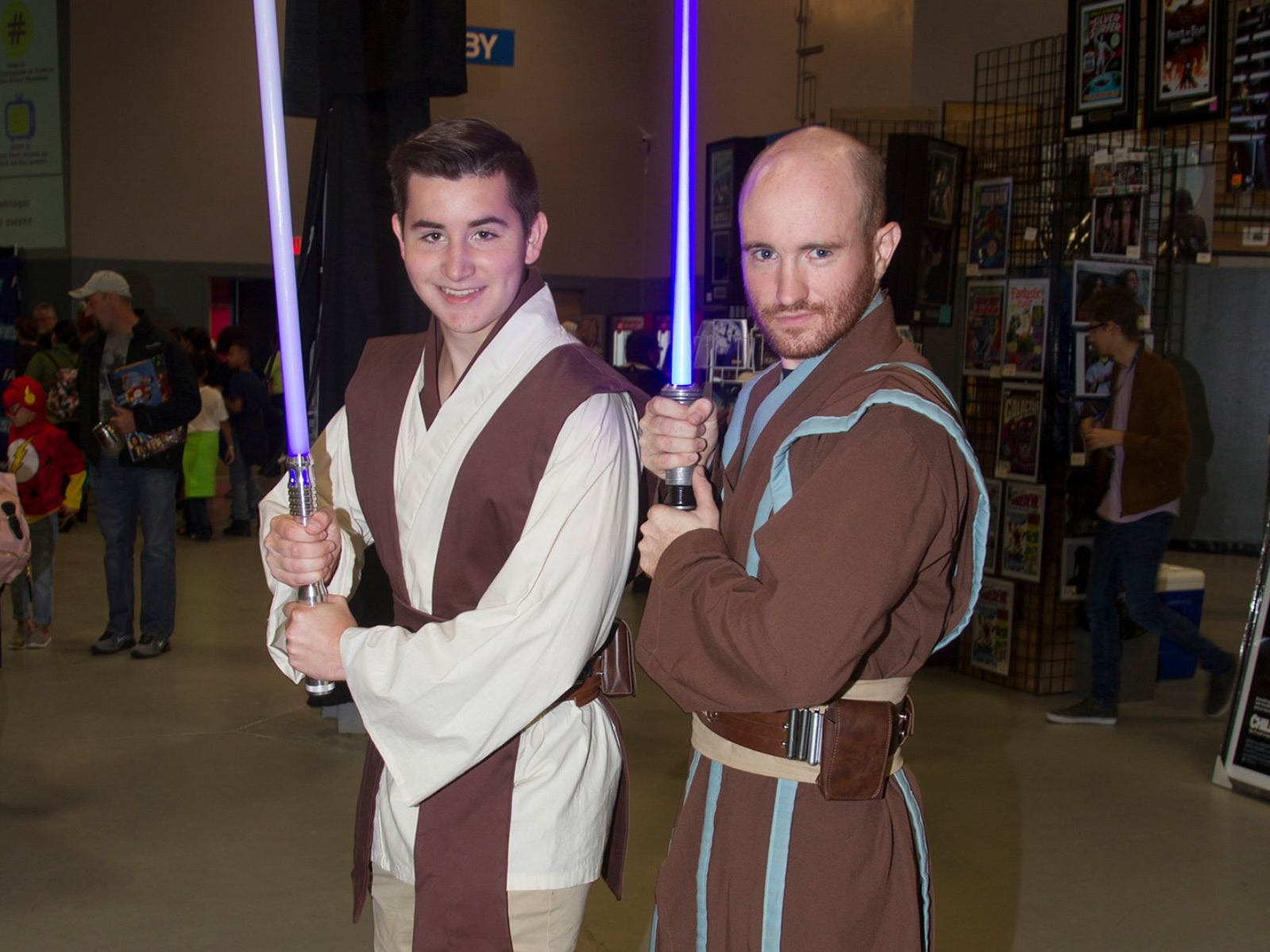 Luke and James as Jedi. The 2018 Heroes and Villains Fan Fest took place at the New Jersey Convention & Expo Center. 09/09/2018