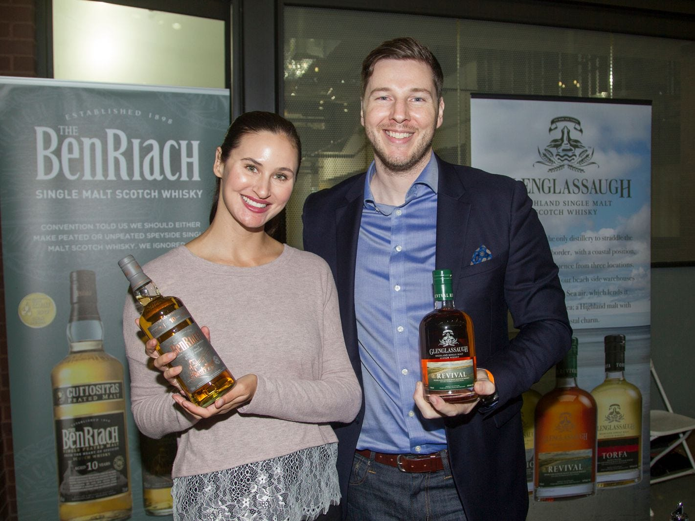 Katelyn, Greg. Jersey City Craft Distillery Fest at the Harborside Atrium featured more than 100 styles of spirits. Guests had the chance to taste craft-distilled spirits from moonshine, rum, cognac, whiskey, vodka, gin, tequila and more. 09/08/2018