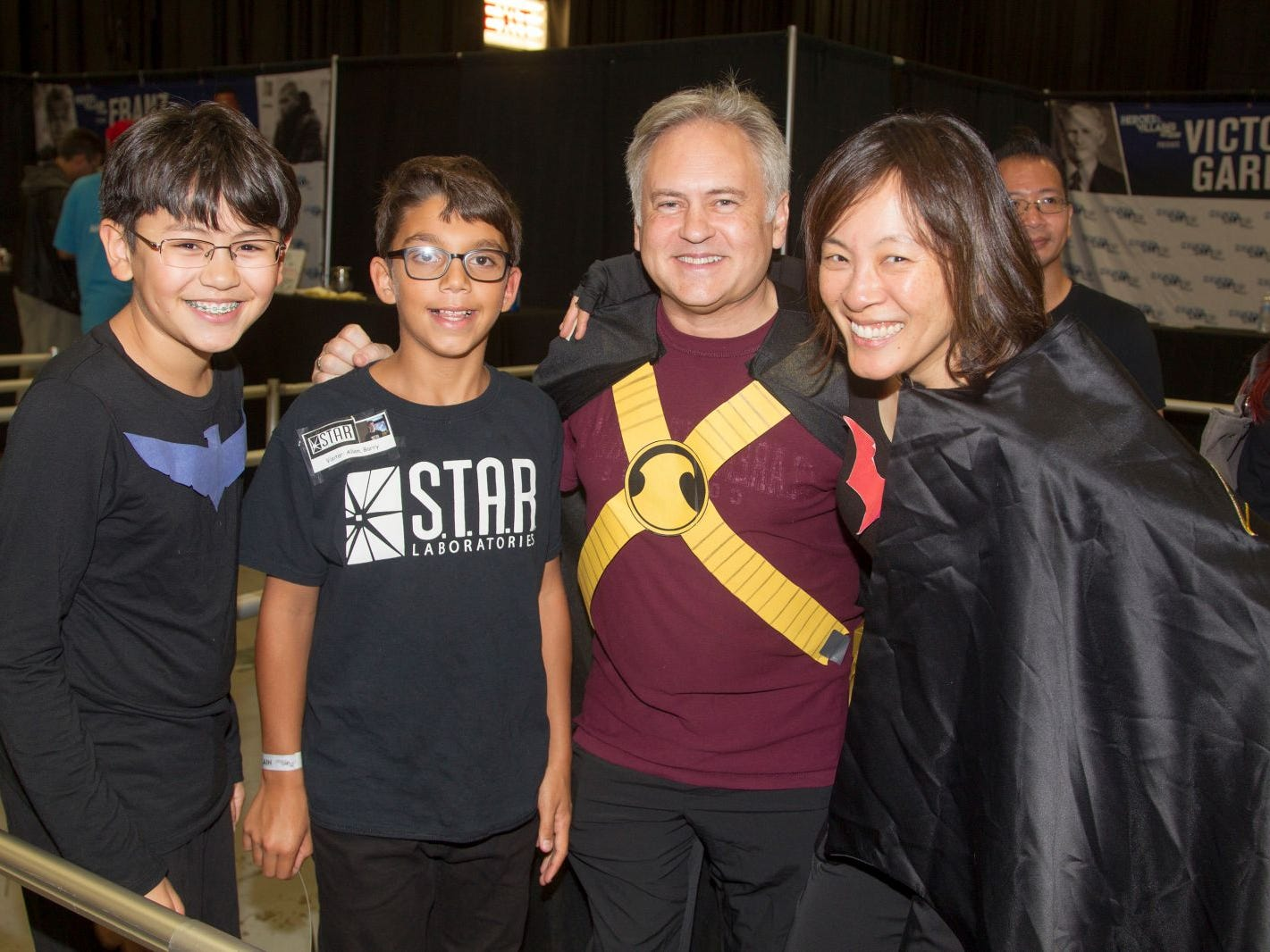Chris, John, Frank, Maureen. The 2018 Heroes and Villains Fan Fest took place at the New Jersey Convention & Expo Center. 09/09/2018