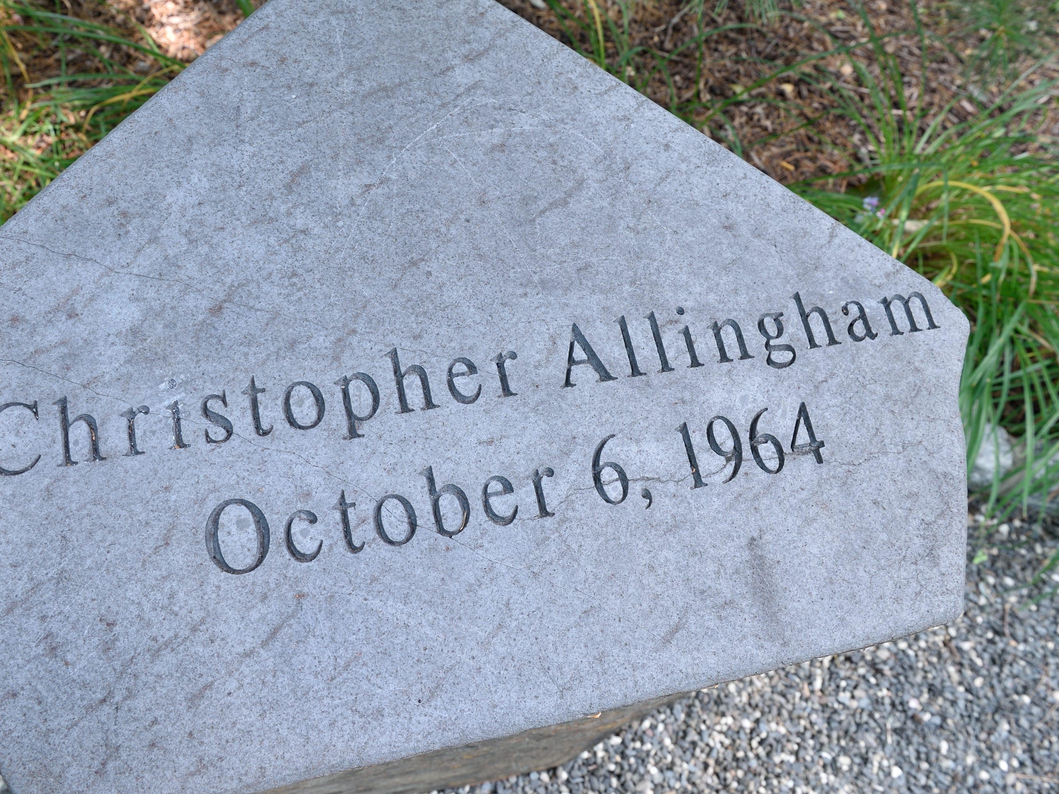 Christopher Allingham of River Edge. A monument honoring Allingham is shown at the River Edge 9/11 Memorial Gardens.