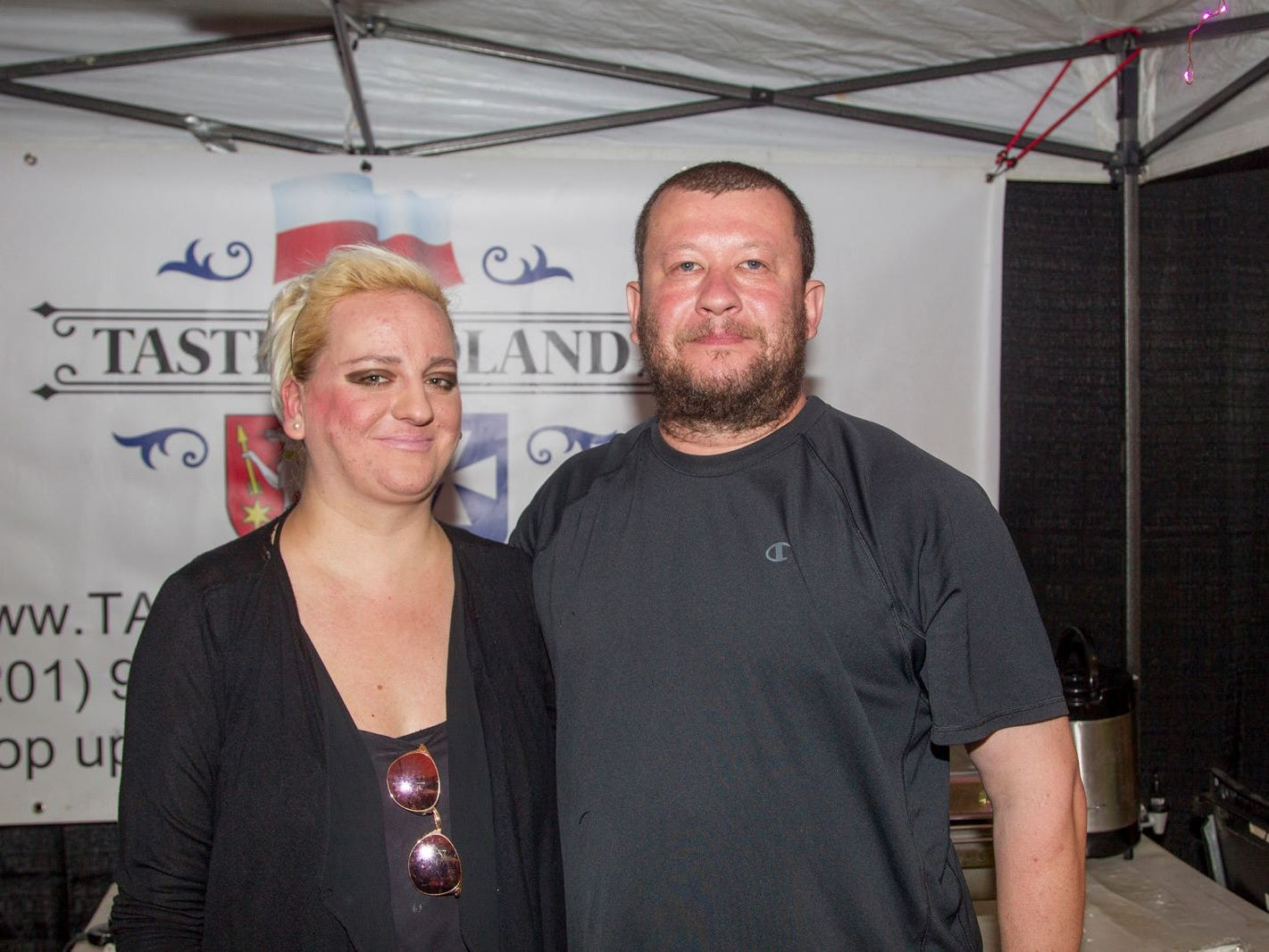 Taste of Poland - Alexandria and Milosz. Jersey City Craft Distillery Fest at the Harborside Atrium featured more than 100 styles of spirits. Guests had the chance to taste craft-distilled spirits from moonshine, rum, cognac, whiskey, vodka, gin, tequila and more. 09/08/2018