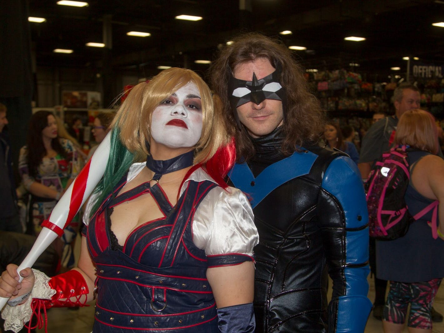 Rome as Harley Quinn and David as Nightwing. The 2018 Heroes and Villains Fan Fest took place at the New Jersey Convention & Expo Center. 09/09/2018