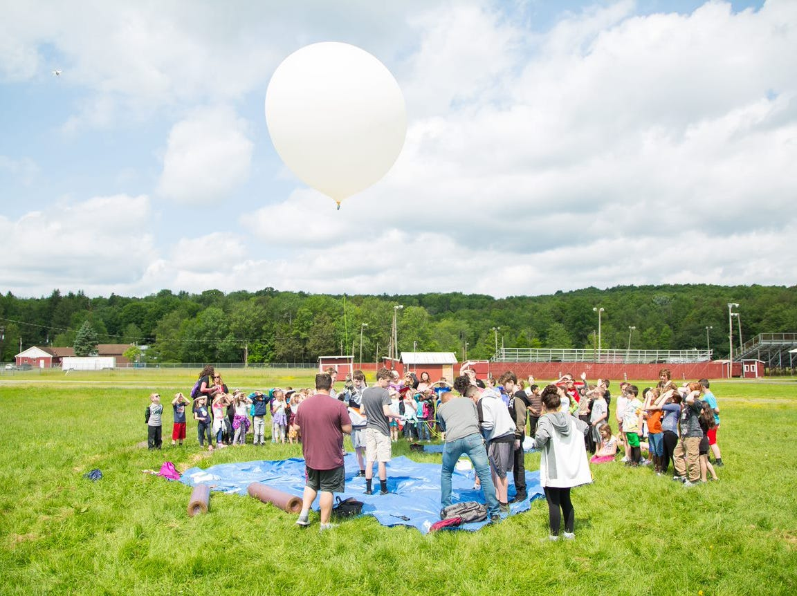 Students at Passaic Valley High School STEM class traveled to Pennsylvania to launch a number of weather balloons which they used to collect data.