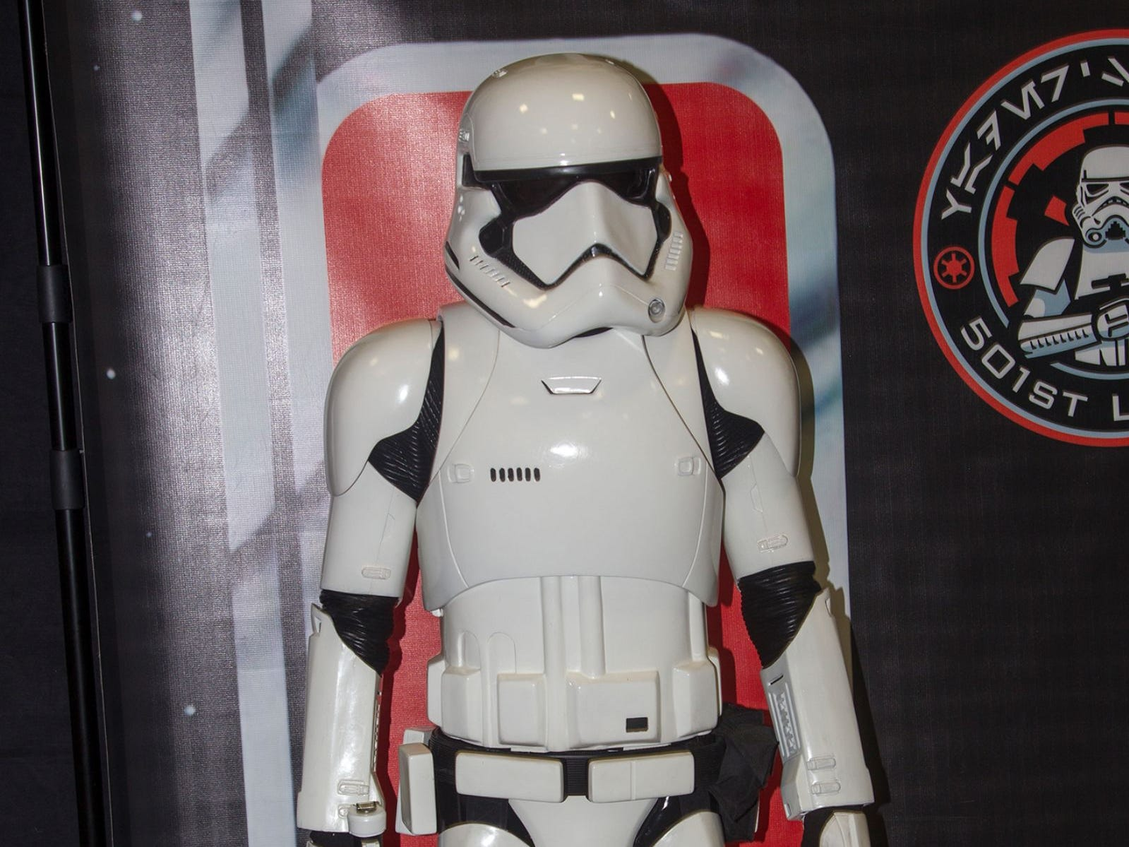 A Stormtrooper. The 2018 Heroes and Villains Fan Fest took place at the New Jersey Convention & Expo Center. 09/09/2018