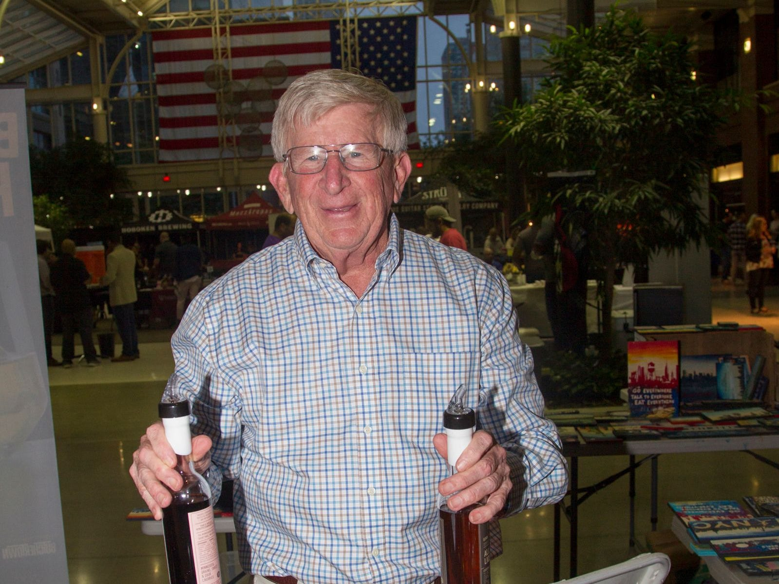 11-Wells  distillery - Bob. Jersey City Craft Distillery Fest at the Harborside Atrium featured more than 100 styles of spirits. Guests had the chance to taste craft-distilled spirits from moonshine, rum, cognac, whiskey, vodka, gin, tequila and more. 09/08/2018