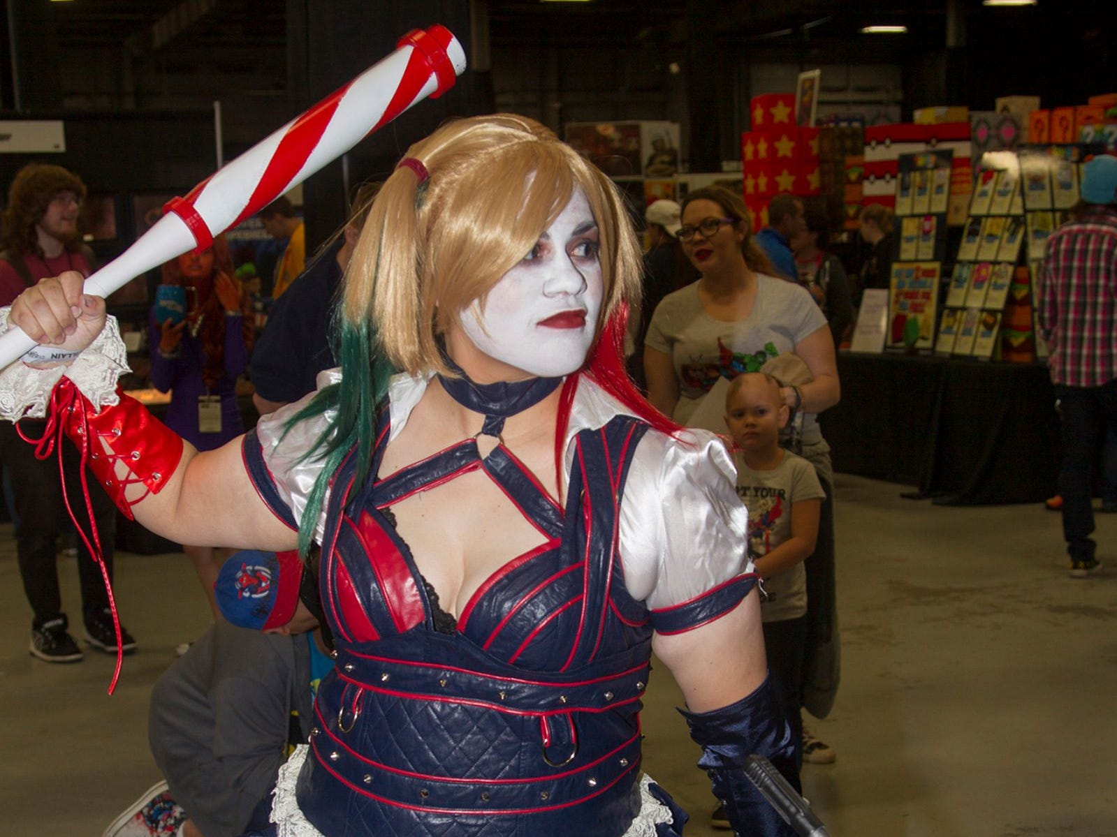 Rome as Harley Quinn. The 2018 Heroes and Villains Fan Fest took place at the New Jersey Convention & Expo Center. 09/09/2018