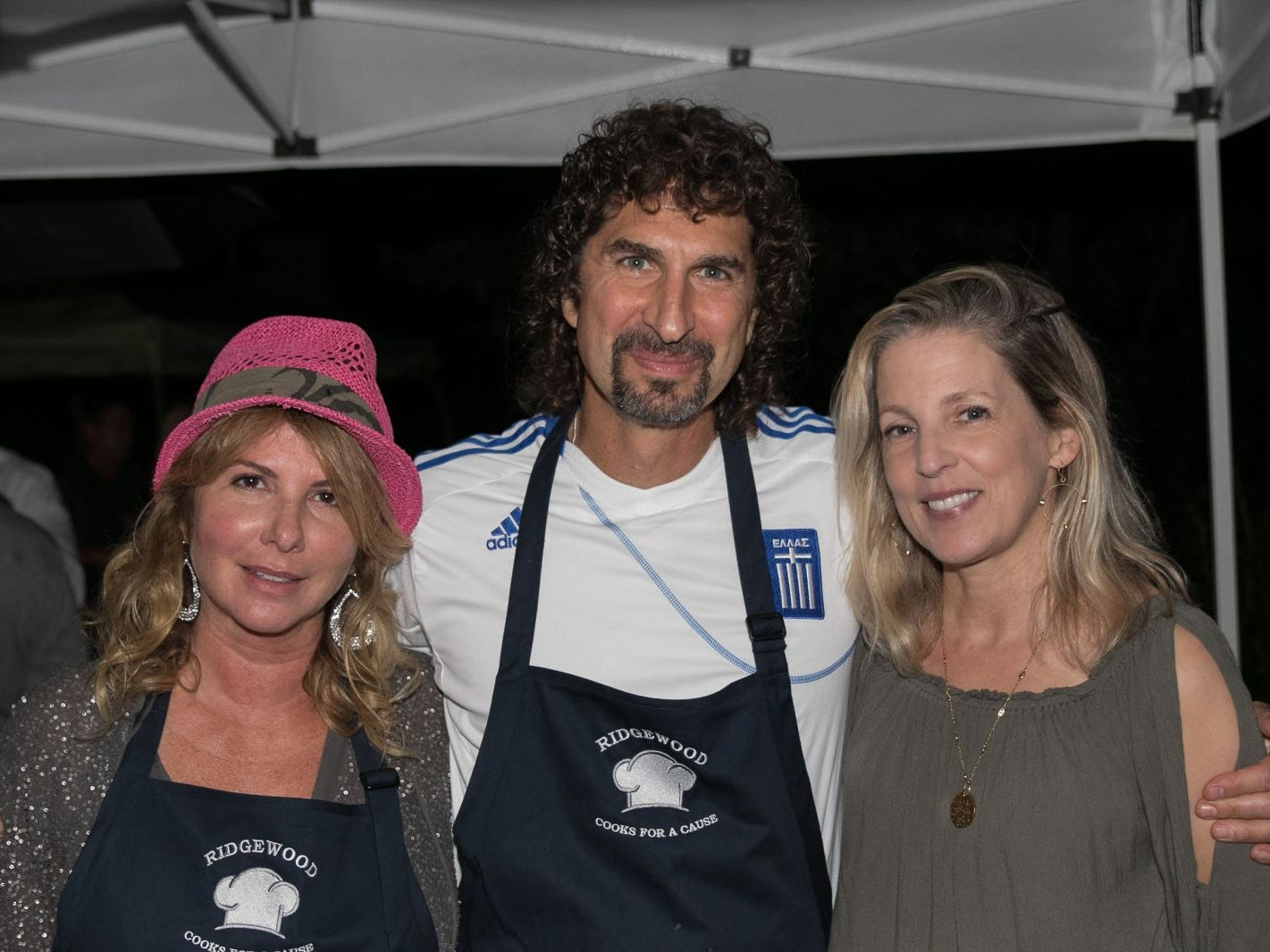"Rebecca Nelson, George Nikvas, Colleen Trevison. Pam Chmiel, The Tres Amigos Paella Company (David Colin, Joe Scanlon and Jeff Saladucha), The Jims (Jim Gibney and Jim Toscano), George Nikias, Ron Oscher and Neil Murphy held Ridgewood Cooks for a Cause to benefit ""Cookies For Kids Cancer"" (Childhood Cancer Research) and YCS (Youth Consultaion Services) charities. 09/08/2018"