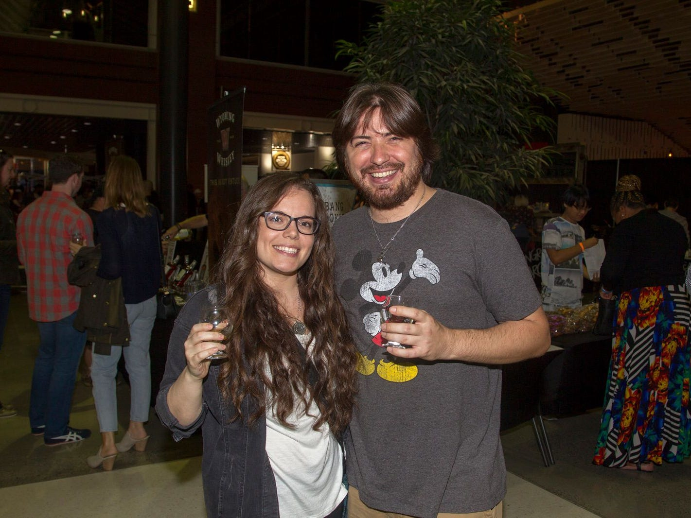 Beth and Rob. Jersey City Craft Distillery Fest at the Harborside Atrium featured more than 100 styles of spirits. Guests had the chance to taste craft-distilled spirits from moonshine, rum, cognac, whiskey, vodka, gin, tequila and more. 09/08/2018