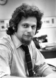 Martin Gottlieb in The Record's newsroom on Oct. 17, 1972.