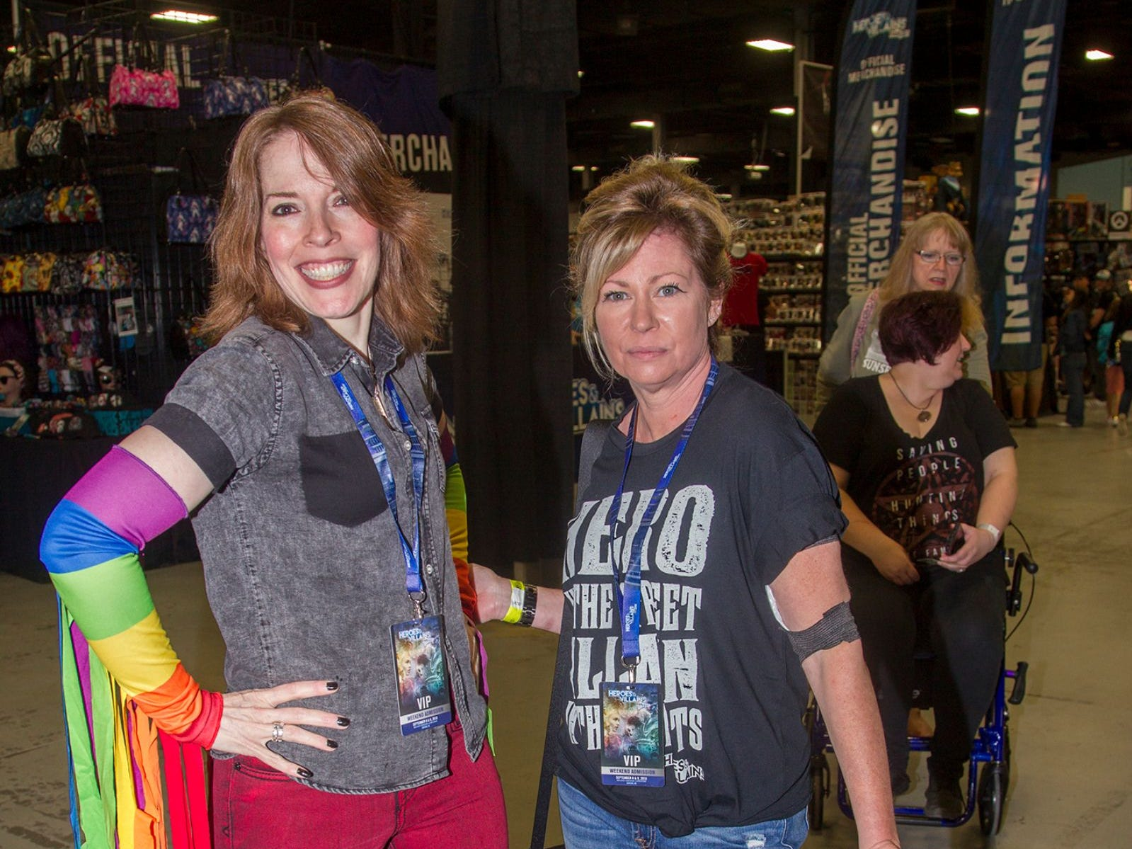 Kelly and Mary. The 2018 Heroes and Villains Fan Fest took place at the New Jersey Convention & Expo Center. 09/09/2018