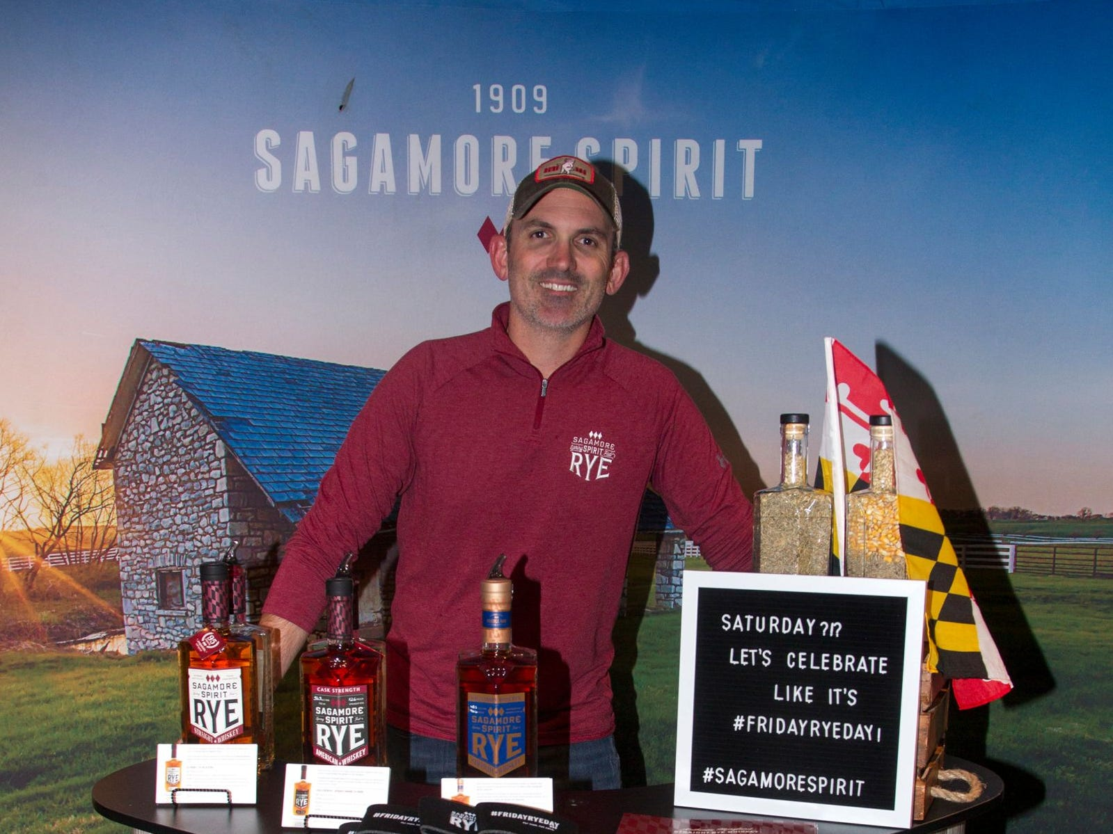 Sagamore Rye - Jack Shute. Jersey City Craft Distillery Fest at the Harborside Atrium featured more than 100 styles of spirits. Guests had the chance to taste craft-distilled spirits from moonshine, rum, cognac, whiskey, vodka, gin, tequila and more. 09/08/2018