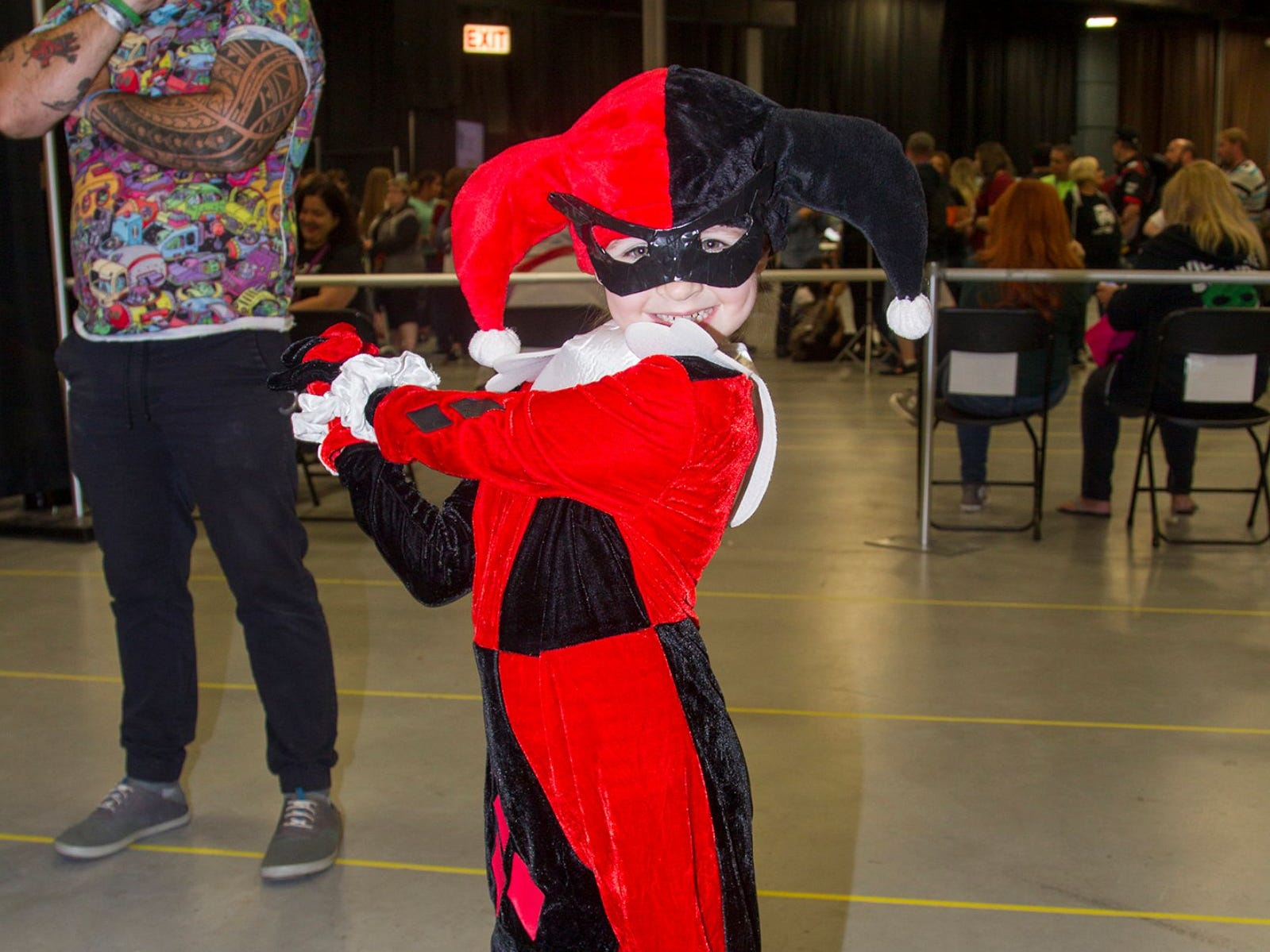 Teresa as Harley Quinn. The 2018 Heroes and Villains Fan Fest took place at the New Jersey Convention & Expo Center. 09/09/2018