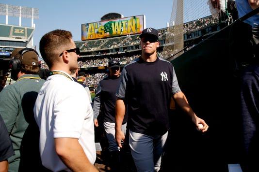 Mlb New York Yankees At Oakland Athletics