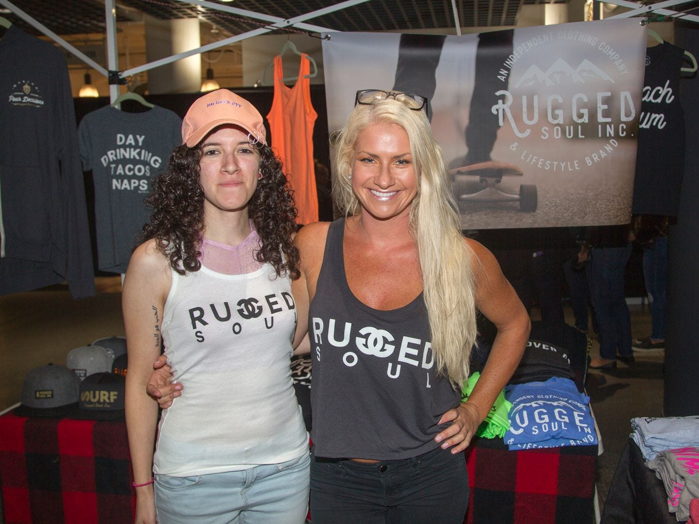 Rugges Soul - Alyssa Larssan, Jasmine Fuentes. Jersey City Craft Distillery Fest at the Harborside Atrium featured more than 100 styles of spirits. Guests had the chance to taste craft-distilled spirits from moonshine, rum, cognac, whiskey, vodka, gin, tequila and more. 09/08/2018