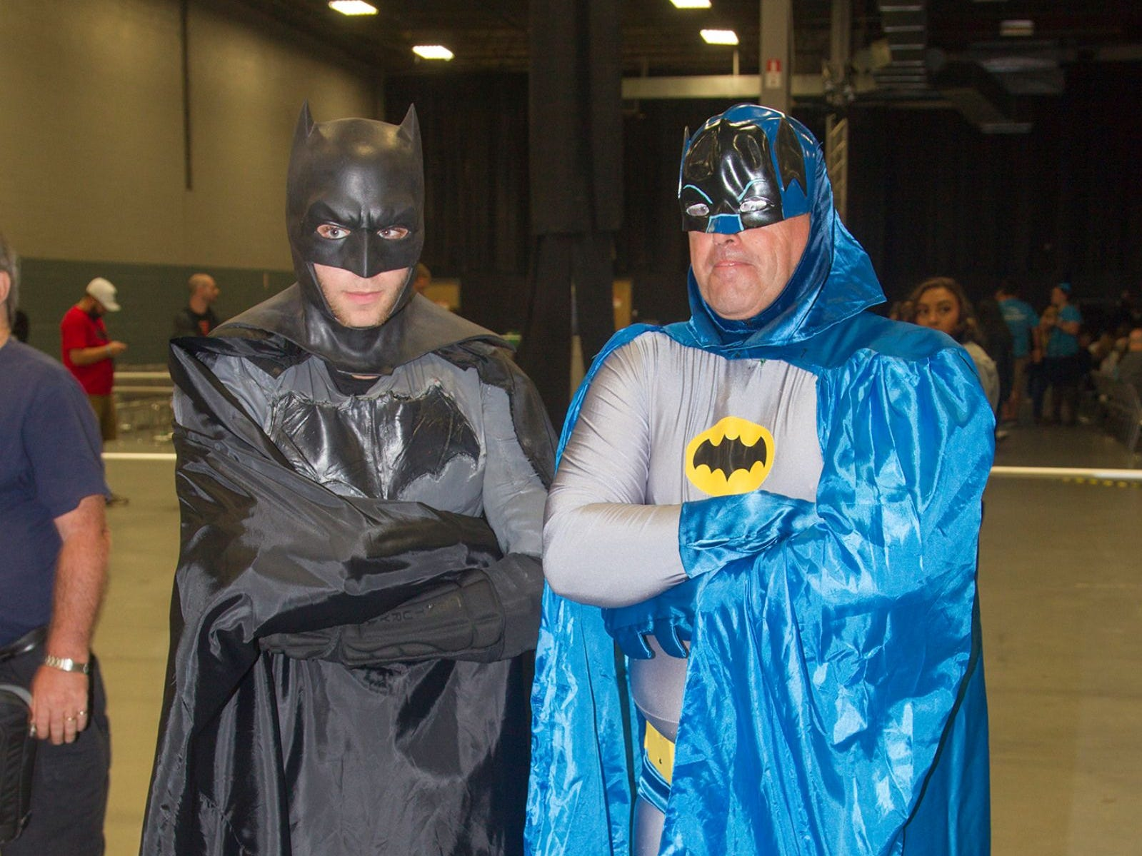 Scott and Jim as Batman. The 2018 Heroes and Villains Fan Fest took place at the New Jersey Convention & Expo Center. 09/09/2018