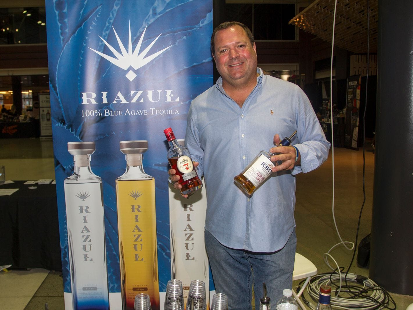 Michael Clayton. Jersey City Craft Distillery Fest at the Harborside Atrium featured more than 100 styles of spirits. Guests had the chance to taste craft-distilled spirits from moonshine, rum, cognac, whiskey, vodka, gin, tequila and more. 09/08/2018