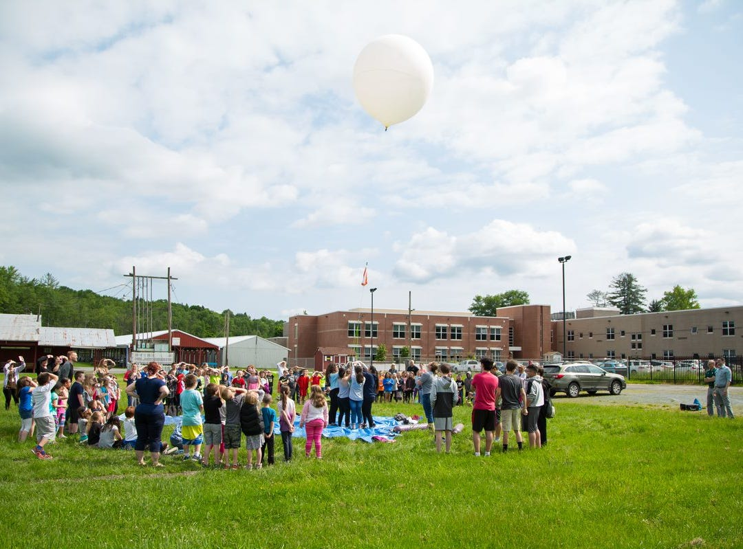 A way it goes. Once final balloon was launched the balloons had to be chased. They came down in Sussex County. The students wanted to retrieve data to assist in their STEM studies.