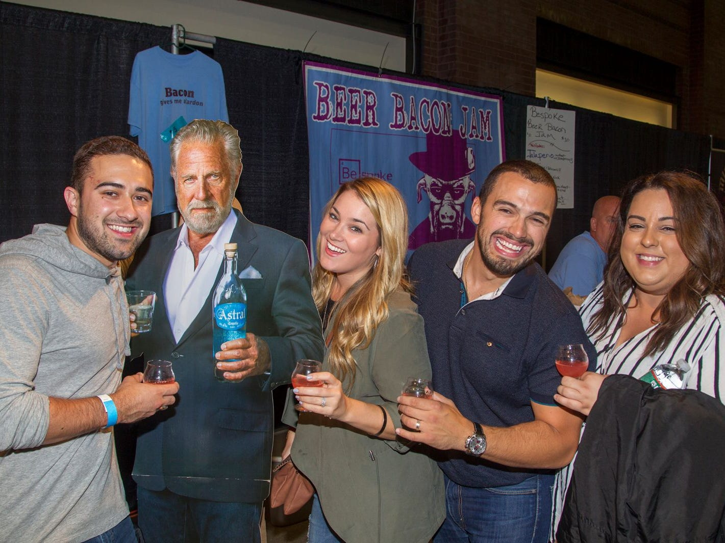 Lance, Maureen, John, Helen. Jersey City Craft Distillery Fest at the Harborside Atrium featured more than 100 styles of spirits. Guests had the chance to taste craft-distilled spirits from moonshine, rum, cognac, whiskey, vodka, gin, tequila and more. 09/08/2018