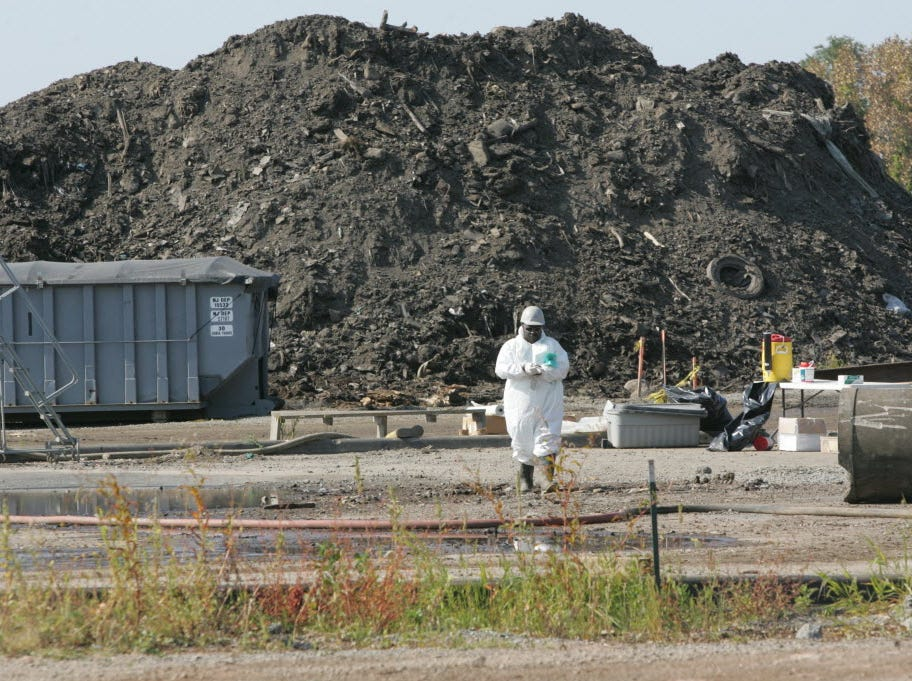 Cleanup of the Ventron/Vesicol Superfund site in the Meadowlands in 2010.