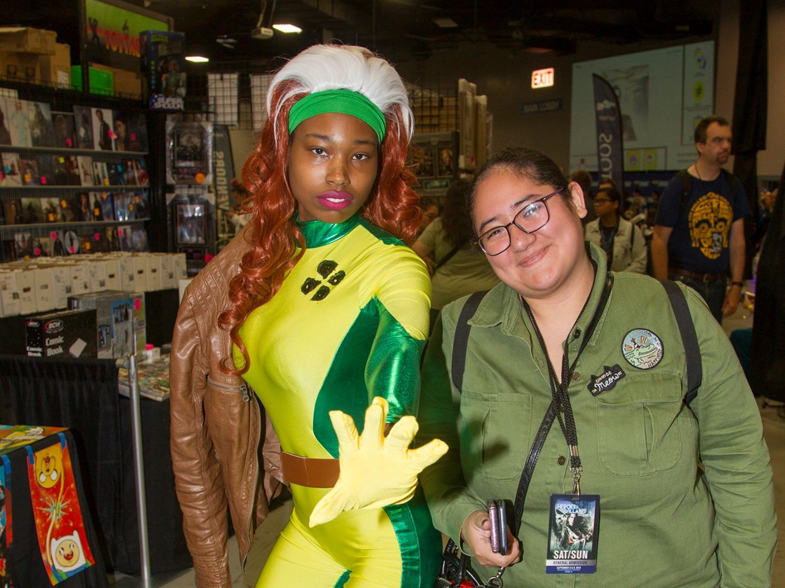 Aaliyah as Rogue and Maria. The 2018 Heroes and Villains Fan Fest took place at the New Jersey Convention & Expo Center. 09/09/2018