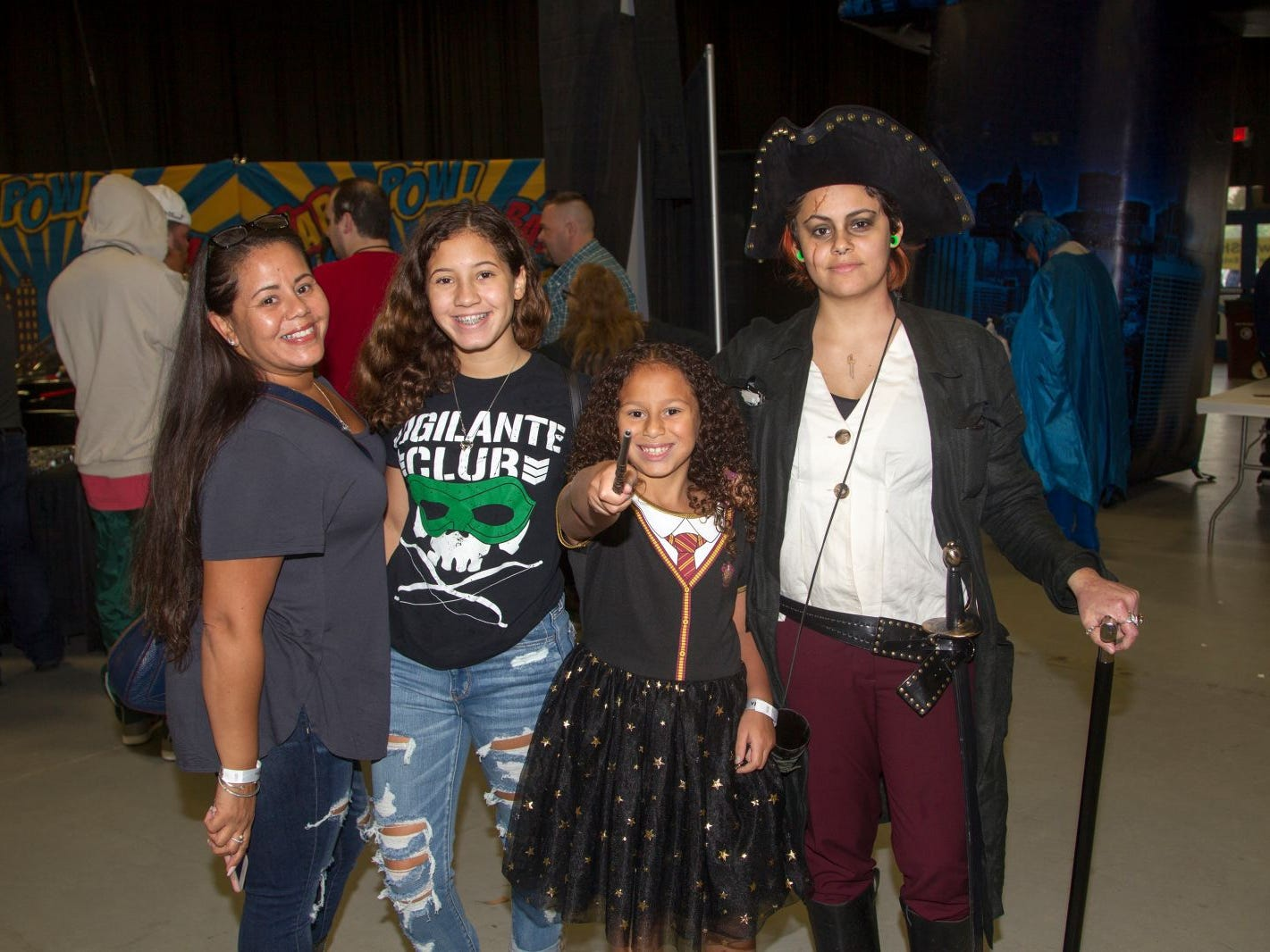 Joanna, Gabriella, Samantha, Emily. The 2018 Heroes and Villains Fan Fest took place at the New Jersey Convention & Expo Center. 09/09/2018