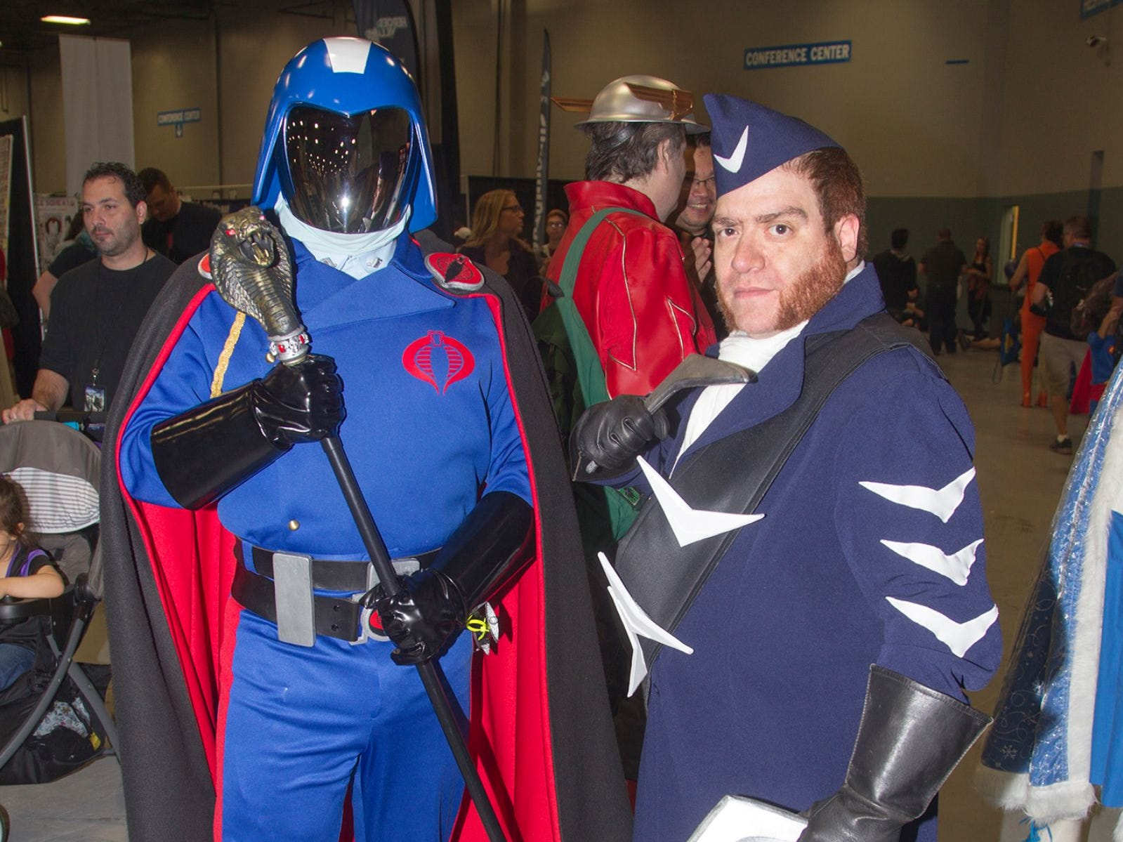 Cobra Commander and Captain Boomerang. The 2018 Heroes and Villains Fan Fest took place at the New Jersey Convention & Expo Center. 09/09/2018