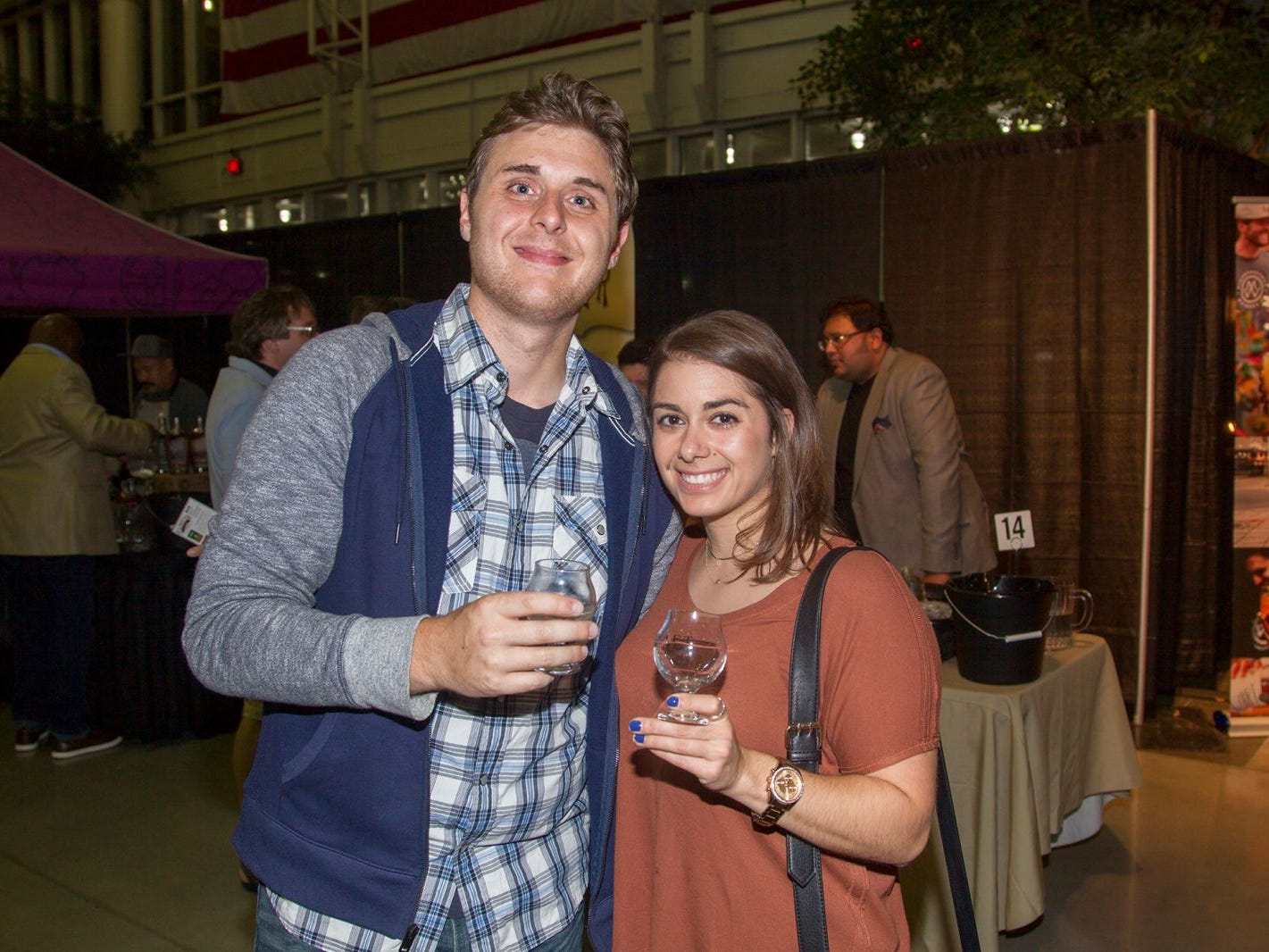 Bob and Barbara. Jersey City Craft Distillery Fest at the Harborside Atrium featured more than 100 styles of spirits. Guests had the chance to taste craft-distilled spirits from moonshine, rum, cognac, whiskey, vodka, gin, tequila and more. 09/08/2018